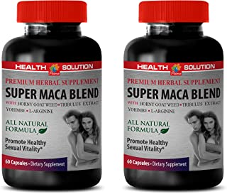 Male Enhancing Pills Last Longer in Bed - Super MACA Blend - Promote Healthy Sexual Vitality - Horny Goat Weed and yohimbe...