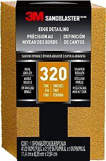 3M SandBlaster Dual Angle Sanding Sponge, 320-Grit, 4 1/2 in. by 2 1/2 in. (Packaging May Vary)