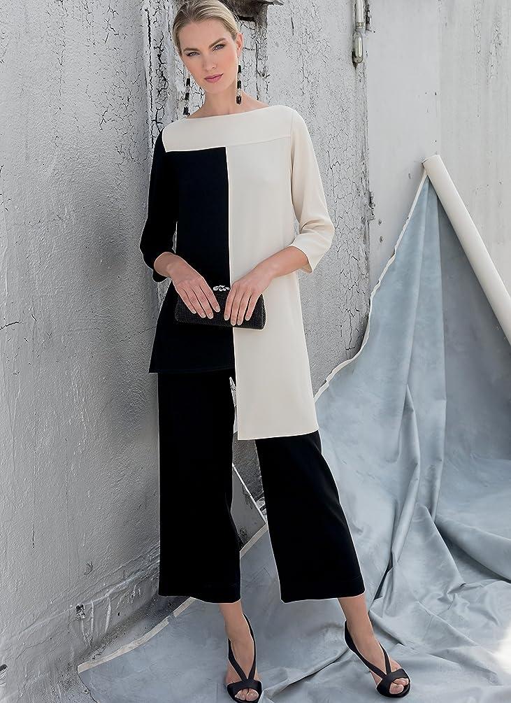 Vogue Patterns V1581E50 Sportswear Tunic and Pants, 14-16-18-20-22, Orange