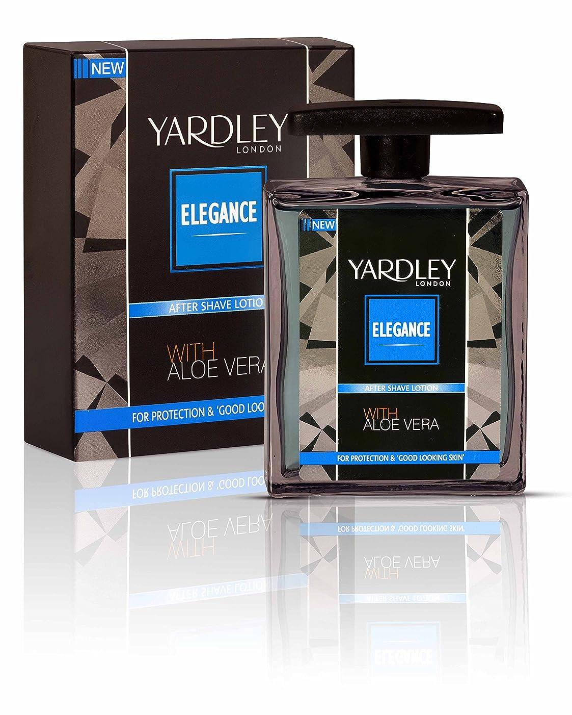 立ち向かう慎重に上昇Yardley London Elegance After Shave Lotion With Aloe Vera 50ml