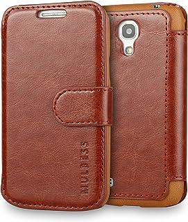 Mulbess Funda Samsung Galaxy S4 Mini [Libro Caso Cubierta] [En Capas de Billetera Cuero de la PU] con Tapa Magnética Carcasa para Samsung Galaxy S4 Mini Case, Marrón