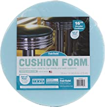 "Fairfield 16"" Round Cushion Foam for DIY Seats and Stools-Set of Four, 16"" x 16"", Blue"