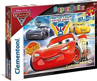 Clementoni Super Color Puzzle Disney Cars 3, Multi-Colour, 104 Pieces