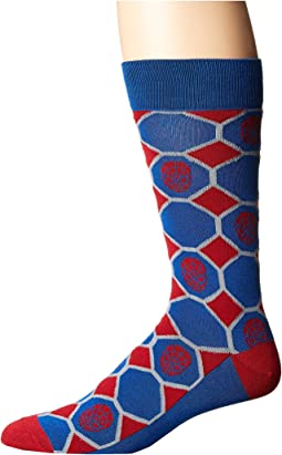 Cufflinks Inc. - Spiderman Blue Checker Socks