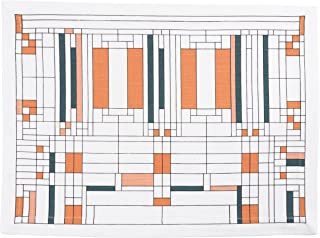 KAF Home Frank Lloyd Wright Printed Table Placemat 13 x 17-inch 100-Percent Cotton Set of 4 (Oak Park)