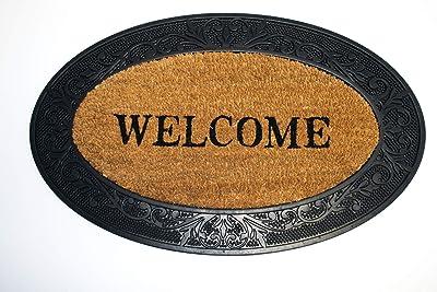 Dandy by William Armes, Rubber Coir Welcome Doormat, Black, 75 x 45