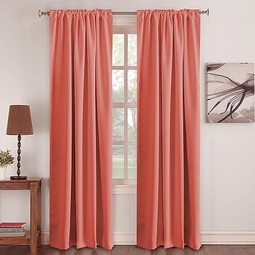 Peach Curtains Amazoncom