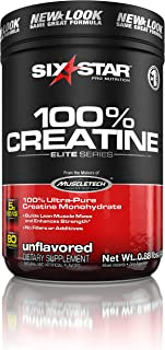 Creatine Monohydrate Powder Mass Gainer | Six Star Elite | Post Workout Recovery Drink | 100% Micronized Creatine Powder |...