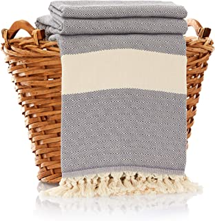 100% Cotton Throw Blanket - Ultra Premium Natural Soft Hypoallergenic Luxury Large Sized Blanket for Couch Sofa Bed and Outdoors - 83