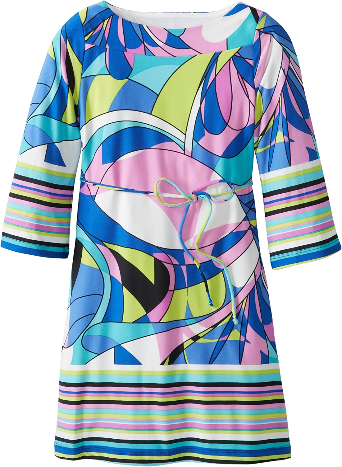 My Michelle Big Girls' 3/4 Sleeve Boat Neck with Tie Back