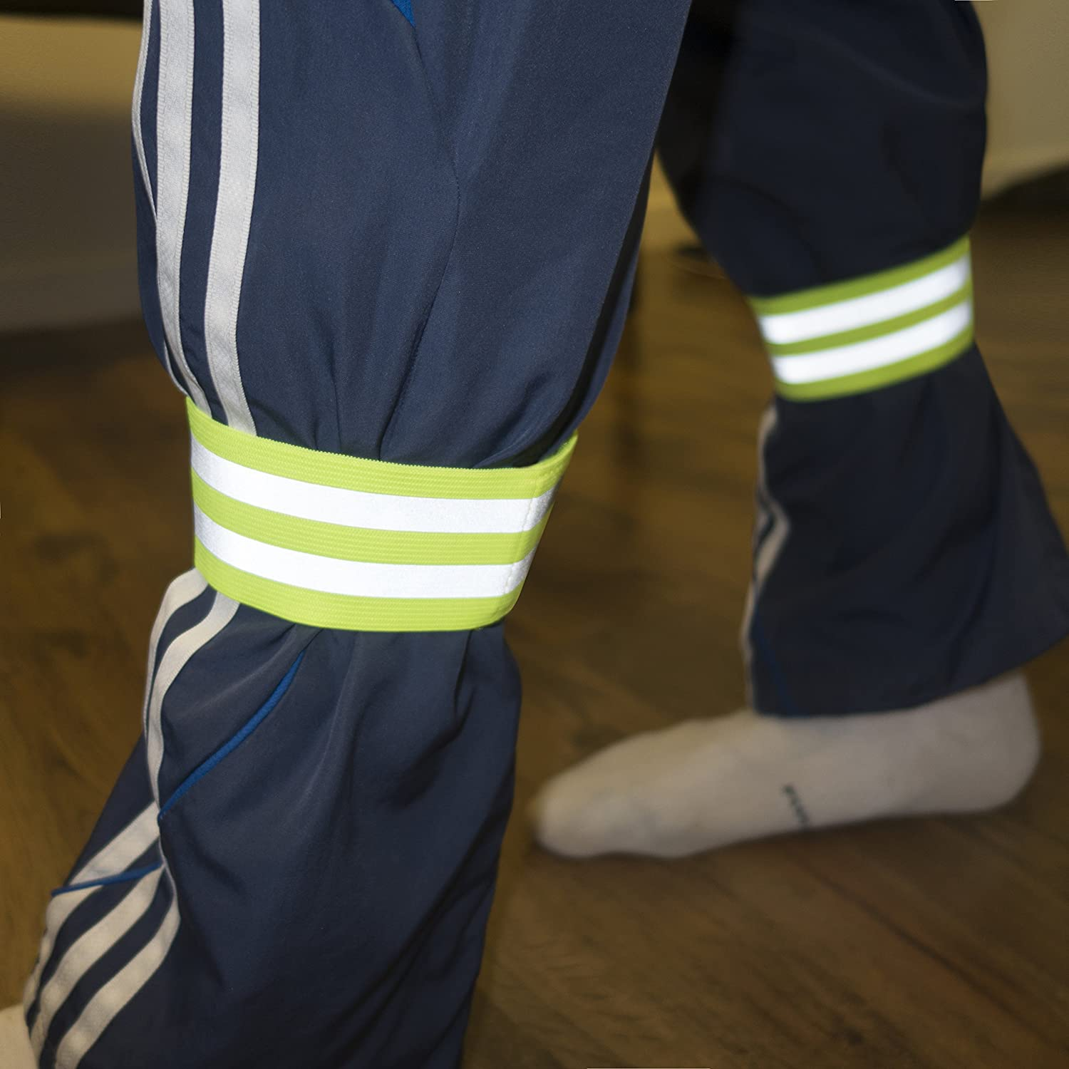 Accessories for Sports//Running Gear 4 Bands//2 Pairs | High Visibility and Safety for Jogging//Cycling//Walking etc Reflective Ankle Bands Armband Works as Wristbands Leg Straps