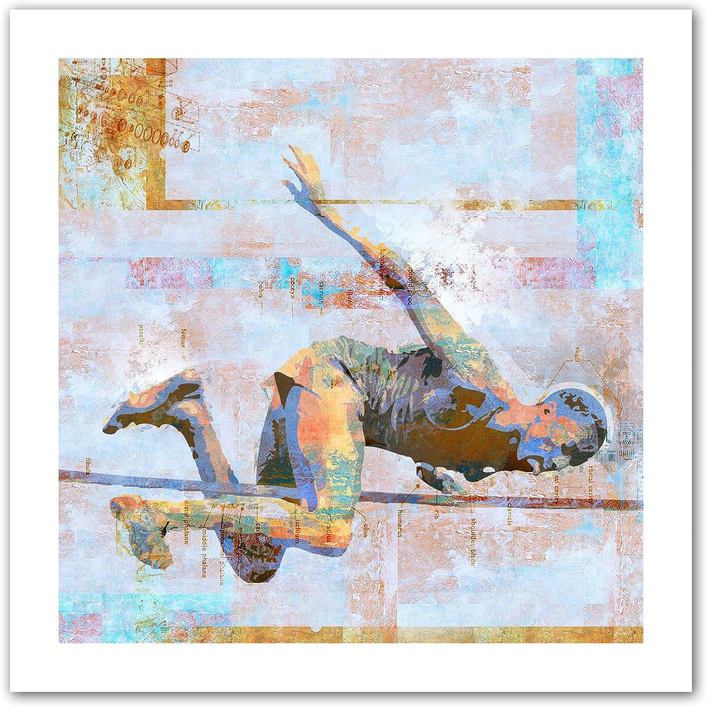 Art Wall Greg Simanson 'Jump' Flat Unwrapped Canvas Art, 18 by 18Inch