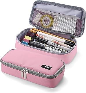 ProCase Pencil Bag Pen Case, Large Capacity Students Stationery Pouch Pencil Holder Desk Organizer, Portable Pencils Pens ...