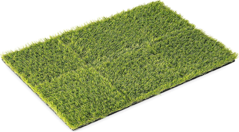 Navaris Interlocking Artificial Grass Squares Fake Brand new Al sold out. G - 12