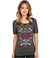 Affliction - Anchors Aweigh 1/2 Sleeve Fashion Top