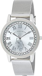 U.S. Polo Assn. Women's Analog-Quartz Watch with Alloy Strap, Silver, 18 (Model: USC40109)