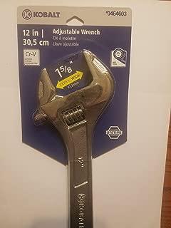 Kobalt 12-in Chrome Vanadium Steel Adjustable Wrench