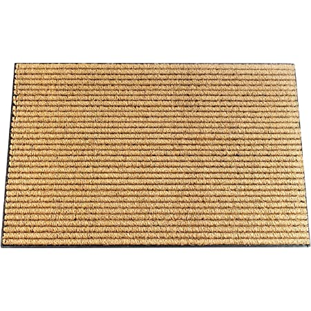 Envelor Coco Welcome Mat Coir Loop Outdoor Doormat Welcome Rubber Door Mat Outdoor Rug Coco Non Slip Mat Home Entrance Door Mat Sturdy Utility Rug Outside Entryway Mat 24 X 36