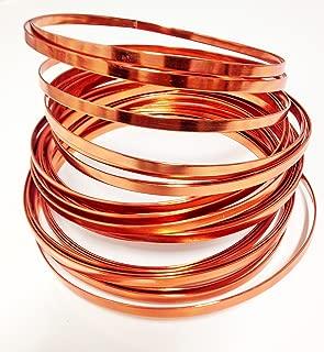 Flat Aluminum Wire 32ft L X 3/16in W (copper)