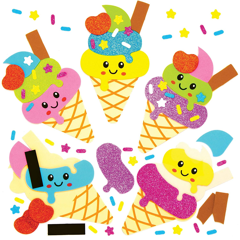 Baker Ross AT990 新作からSALEアイテム等お得な商品 満載 Kids Fridge Magnet Craft - of Ice 休み Pack 8 Cream