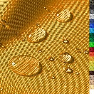 1buy3 Monaco Wasserdichter Polyester Stoff | 12.000 mm Wassersäule | Farbe 08 | Orange | Polyester Stoff 160cm breit Meterware wasserdicht Outdoor extrem reissfest