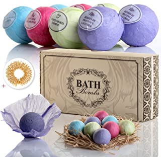Bath Bombs Set, Fizzy Bomb, XL 3.5 Oz: Organic Home Spa Treatment for Natural Relaxation. Birthday Gifts for Wife, Mom, Grandma, Teen Girl. Anniversary Gift Sets Ideas for Her, Presents for Women