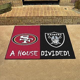 "FANMATS NFL unisex-adult House Divided Mat 33.75"" x 42.5"" black"