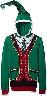Ugly Christmas Sweater Men's Elf Hooded