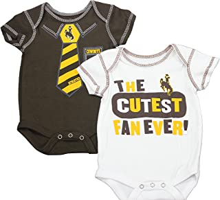 Outerstuff Wyoming Cowboys Baby Clothing, University 2 Piece Creeper Apparel Set
