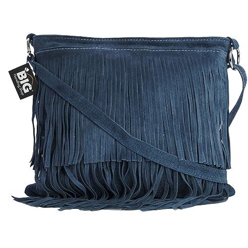 3367c17c605d LIATALIA Womens Suede Leather Tassle Fringe Shoulder Bag (Large Size) -  ASHLEY