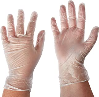 West Chester 2750 Industrial Grade Disposable Vinyl Gloves, 4 mil, Powder Free: Clear, Medium, Box of 100