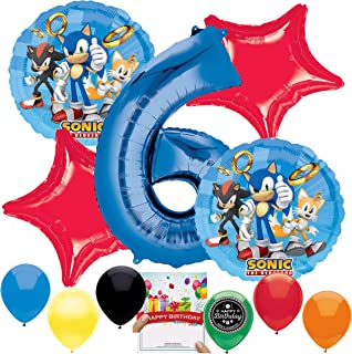 Sonic the Hedgehog Party Supplies Balloon Decoration Bundle for 6th Birthday