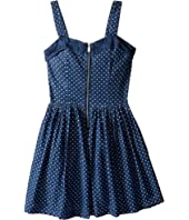 Nanette Lepore Kids - Polka Dot Denim Dress w/ Tulle (Little Kids/Big Kids)