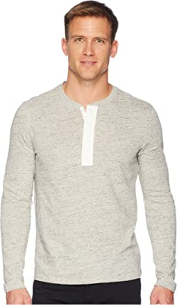 Side Slit Long Sleeve Henley