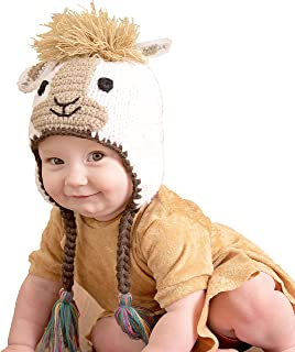 Huggalugs Baby and Toddler Llama Knit Beanie Hat