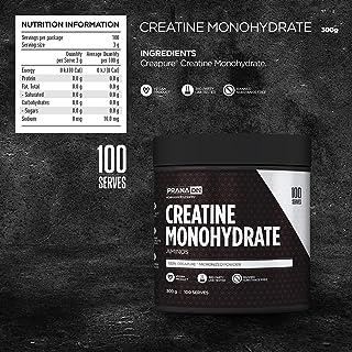 PranaOn Amino - Creatine Monohydrate 300g, 0.38 kilograms (Pack of 1)