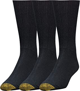 Gold Toe Men's Fluffies Crew Socks, 3 Pairs