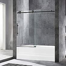 WOODBRIDGE Frameless Sliding Bathtub Shower, 56
