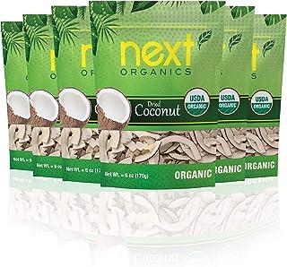 Next Organics Dried Coconut 6 oz Bag (Pack of 6)