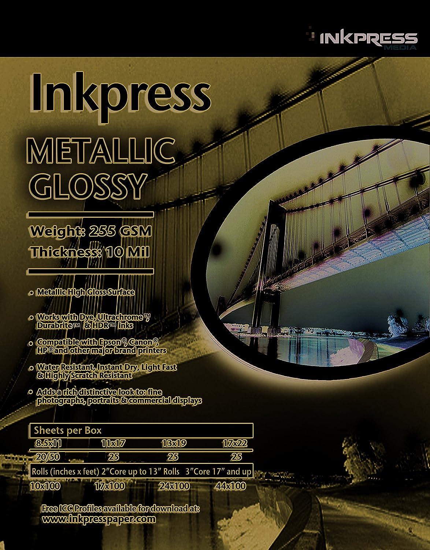 INKPRESS MEDIA Metallic Paper Gloss 255 Ranking TOP5 mil security 10 Qualit gsm Photo