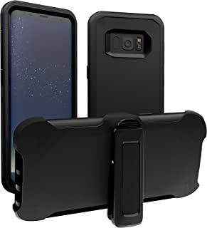 Samsung Galaxy S8 Plus Case, ToughBox [Armor Series] [Shockproof] [Black] for Galaxy S8 Plus Case [with Holster & Belt Clip] [Fits OtterBox Defender Series Belt Clip Cover]