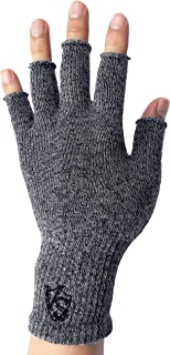 Stretchy Unisex Half Finger Texting Circulation Fingerless Recovery Arthritis Gloves (Pair)