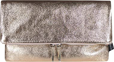SKUTARI® LEDER GIURA Brillante Damen Clutch | aus hochwertigem Echt-Leder | Geldtasche | Umhängetasche | Geldbörse | Ledertas