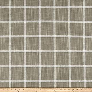 Premier Prints Modern Farmhouse Abbot Windowpane Slub Canvas Ecru, Fabric by the Yard