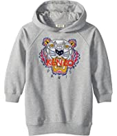 Kenzo Kids - Hooded Tiger Fleece Dress (Little Kids)