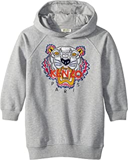 Hooded Tiger Fleece Dress (Little Kids)