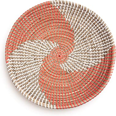 Woven Basket Bowl Wall Hanging   Handmade Decorative Bowl with Hook   Chic Boho Décor, Ideal Housewarming Gift for Her   11 I