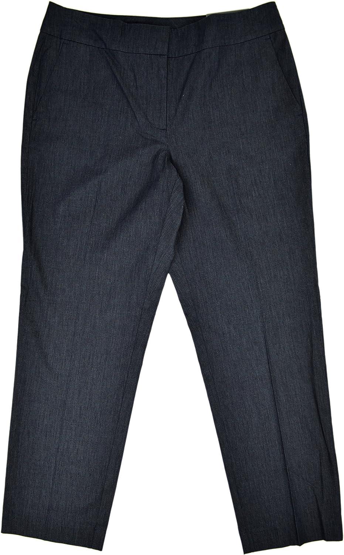 Ann Taylor Womens Signature Fit Straight Leg Cropeed Trousers Pants Denim bluee 6