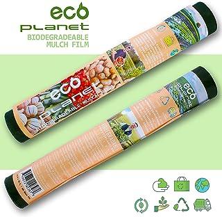 EcoPlanet Bio-degradable Plastic Mulch Film Gardening Farming Film Outdoor Garden Landscape Weed Barrier Blocker Fabric (Type A) (1 Mil, 2.7 feet x 50 feet)