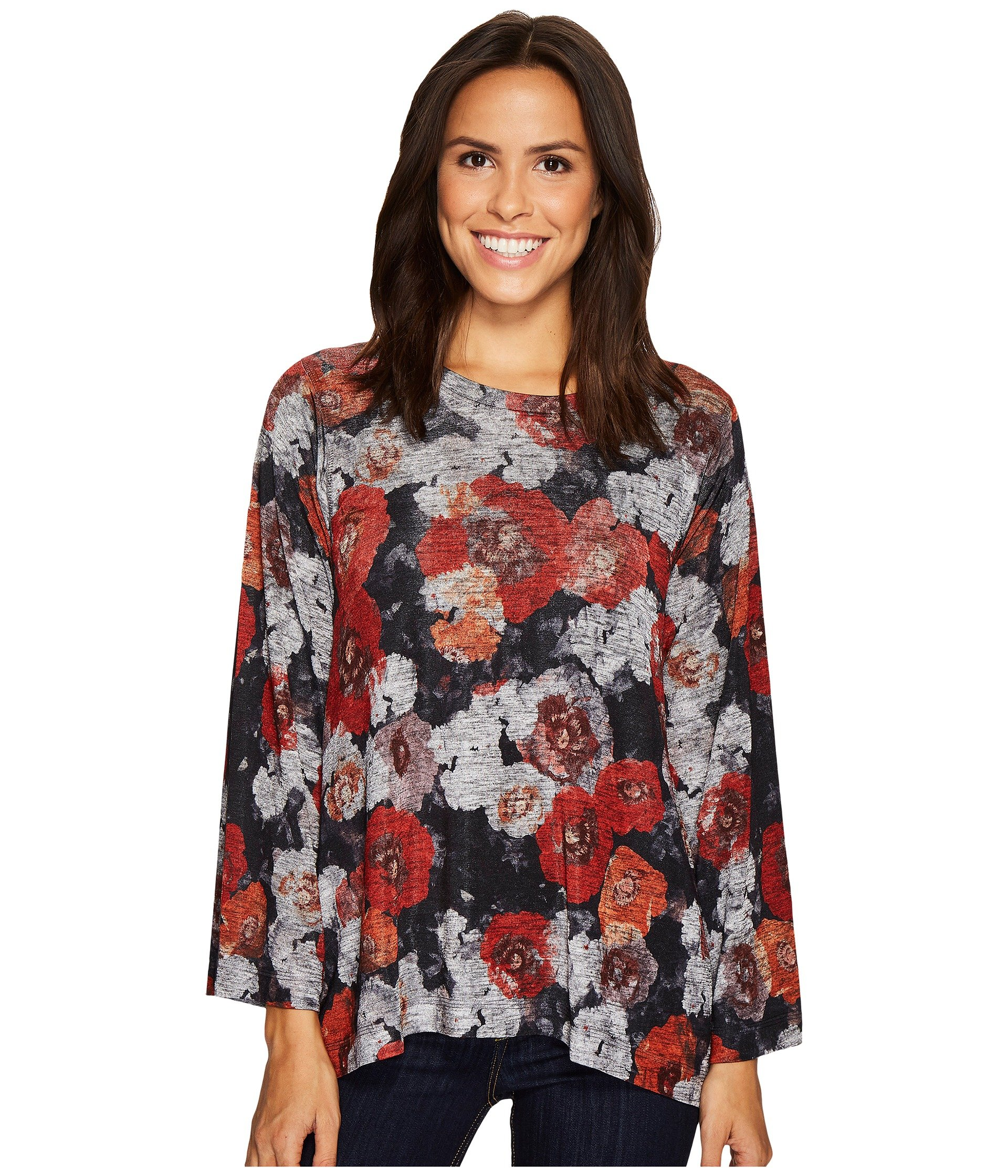 Poppy Floral Print Top